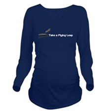 Flying Leap Long Sleeve Maternity T-Shirt