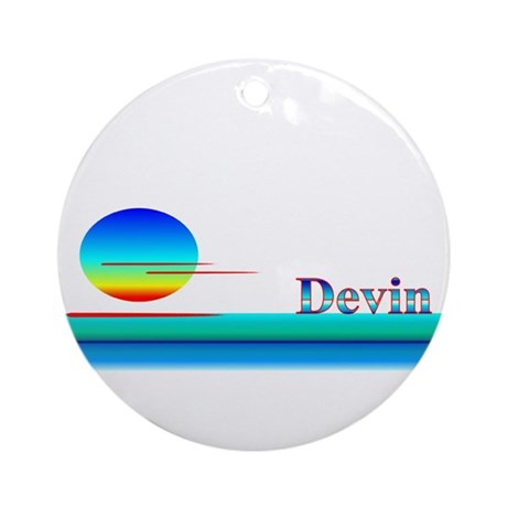 Devin Ornament (Round)