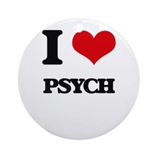I Love Psych Ornament (Round)