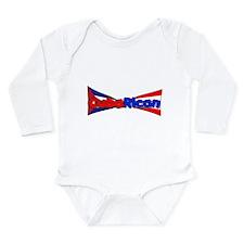 Funny Rican Long Sleeve Infant Bodysuit
