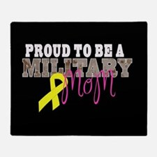 Proud to Be Military Mom Throw Blanket