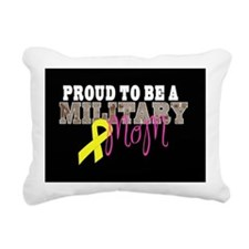 Proud to Be Military Mom Rectangular Canvas Pillow