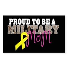 Proud to Be Military Mom Decal
