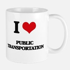 I Love Public Transportation Mugs