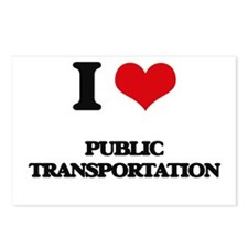 I Love Public Transportat Postcards (Package of 8)