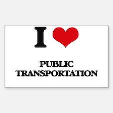 I Love Public Transportation Decal