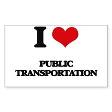 I Love Public Transportation Decal