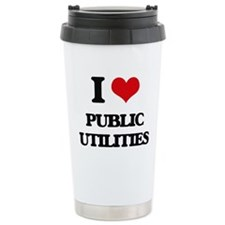 I Love Public Utilities Travel Mug