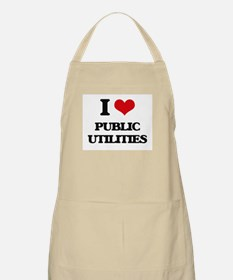 I Love Public Utilities Apron