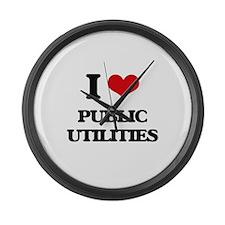 I Love Public Utilities Large Wall Clock