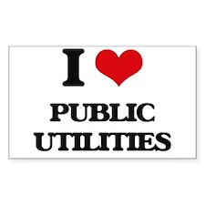I Love Public Utilities Decal
