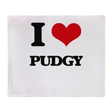 I Love Pudgy Throw Blanket