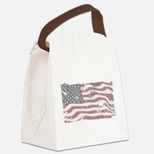 Funny God and country Canvas Lunch Bag