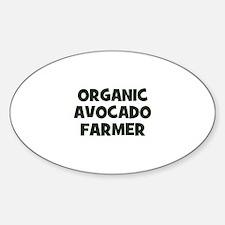 organic avocado farmer Oval Decal