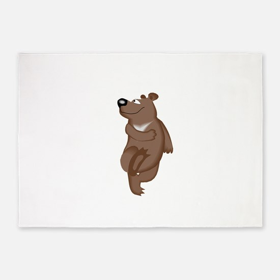 Bear Dancing 5'x7'Area Rug