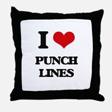 I Love Punch Lines Throw Pillow