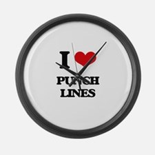 I Love Punch Lines Large Wall Clock