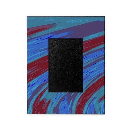 Blue Red Swish Abstract Picture Frame