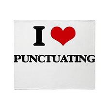 I Love Punctuating Throw Blanket