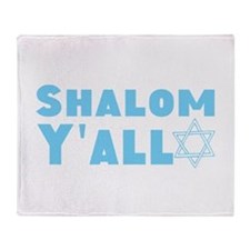 Shalom Yall Throw Blanket