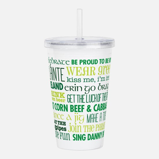 St. Patrick's Day Acrylic Double-Wall Tumbler