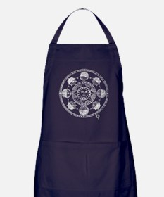 Medieval Astronomy Sun and Planets Apron (dark)