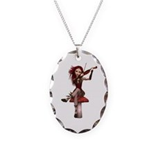 Coral Fairy ~ Sweet Lullaby Necklace Oval Charm