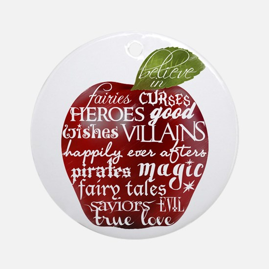 Believe In - Apple Ornament (Round)