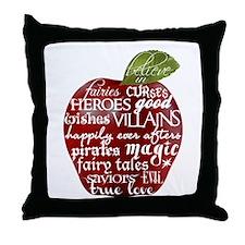 Believe In - Apple Throw Pillow
