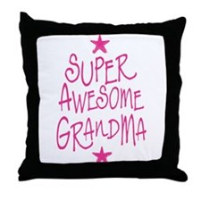Super Awesome grandma Throw Pillow
