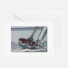 sailing + yacht racing photos Greeting Cards (6)