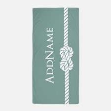 Turquoise Rope Personalized Name Beach Towel