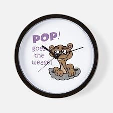 POP GOES THE WEASEL Wall Clock