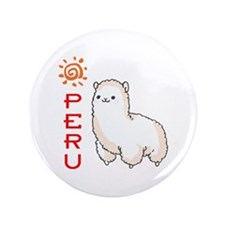 """ALPACA PERU 3.5"""" Button (100 pack)"""
