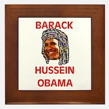 MUSLIM OBAMA Framed Tile