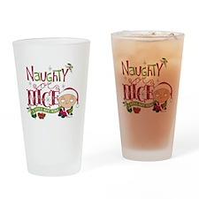 Naughty or Nice Drinking Glass