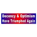 Bumper Sticker: Decency & Optimism