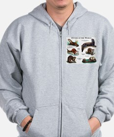 Otters of the World Zip Hoodie
