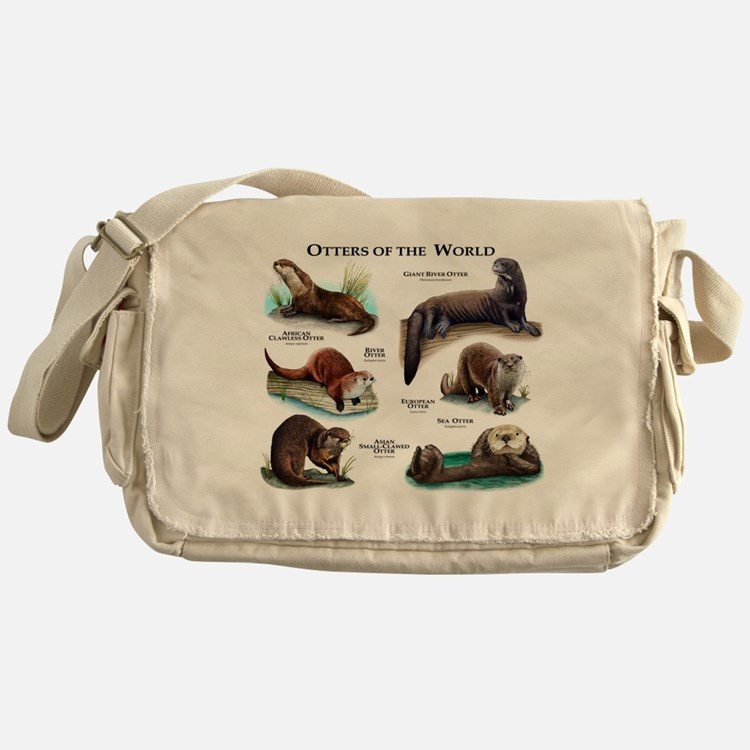 Otters of the World Messenger Bag