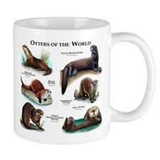 Otters of the World Small Mug