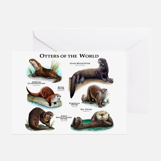 Otters of the World Greeting Card