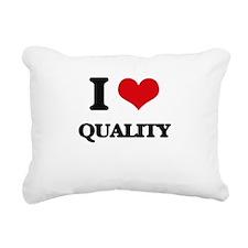 I Love Quality Rectangular Canvas Pillow