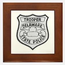 Delaware State Police Framed Tile