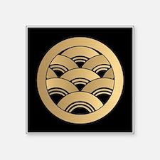 Golden Waves Japanese Kamon Sticker