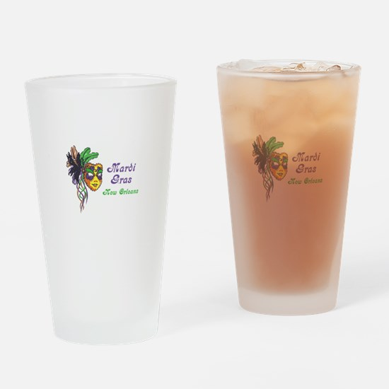 MARDI GRAS NEW ORLEANS Drinking Glass