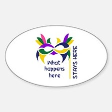WHAT HAPPENS HERE Decal