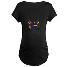WHAT HAPPENS HERE Maternity T-Shirt