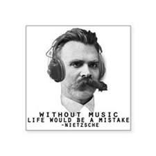 Friedriech Nietzsche: Music Is Life Sticker