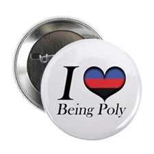 "I Heart Being Poly 2.25"" Button (10 pack)"