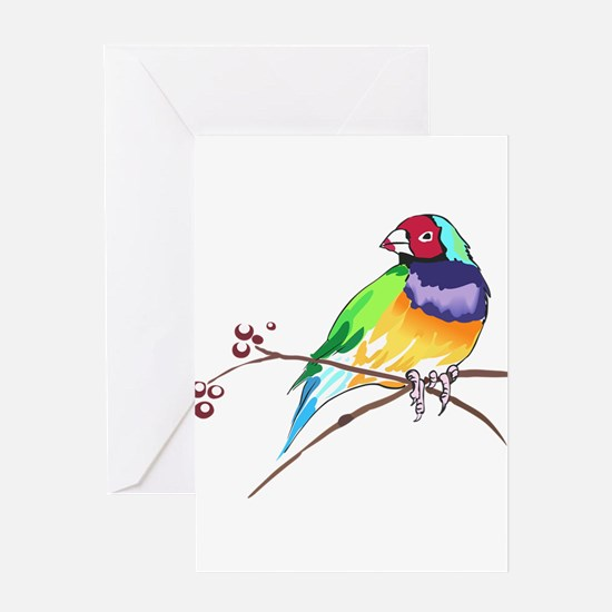 GOULDIAN FINCH Greeting Cards
